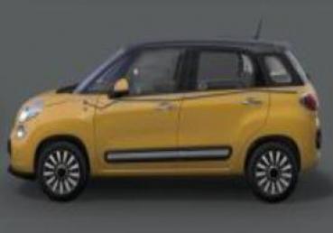 Fiat 500l Aufkleber Seitlich In Schwarzsilber