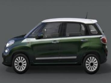 Fiat 500l Aufkleber Seitlich In Weiß Mit 500 Logo