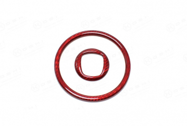 Abarth 500/595 Steering Wheel Center Cover - Red - Kopie