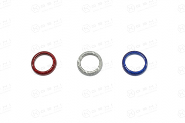 Abarth 500/595 Dashboard Buttons Trim - Great Britain Flag Colors - Kopie